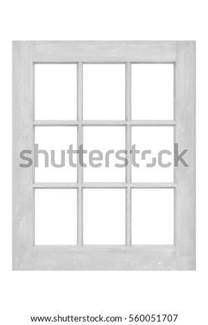 Wood Window Frame Isolated On White Stock Photo (Edit Now) 560051707 ...