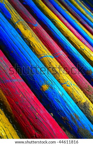 Wood with vivid color