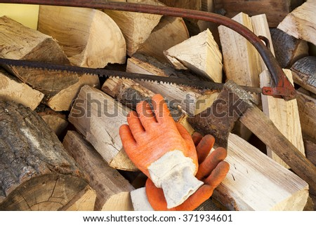 woodcutter - stock photo