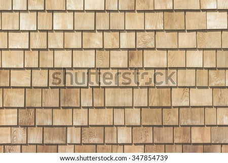 Wooded plank roof tiles background / texture with pastel tone.
