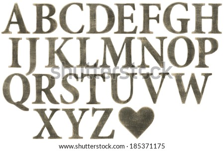 Wooden alphabet letters, isolated - stock photo