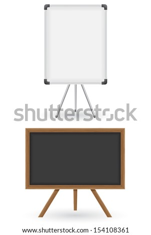 wooden and plastic school board illustration isolated on white background