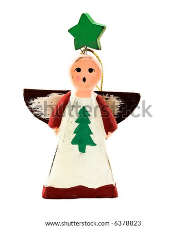 Wooden angel - stock photo