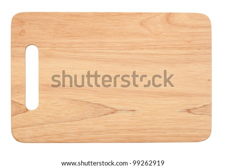 Wooden antiseptic cutting board isolated with clipping path on white background - stock photo