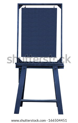 Wooden backdrop on white background, clipping path included. - stock photo