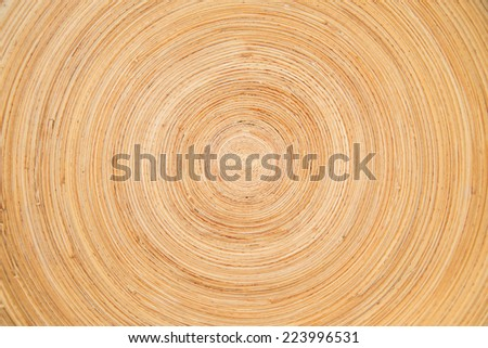 Wooden background - Circular texture made out of wood - stock photo