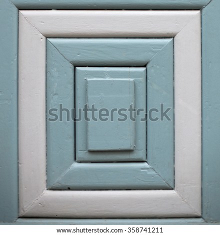 Wooden background (grey and blue), rectangular frame