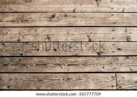 Wooden background of boat desks - stock photo
