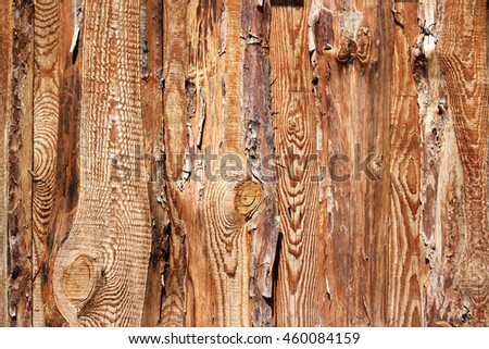 wooden background of rough pine boards - stock photo