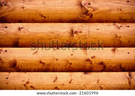 Wooden background - part of log cabin - stock photo