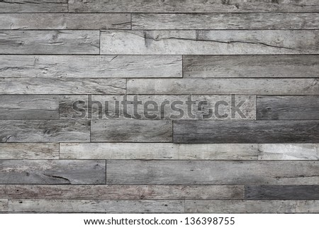 Wooden background, Recycled wood from different grade. - stock photo