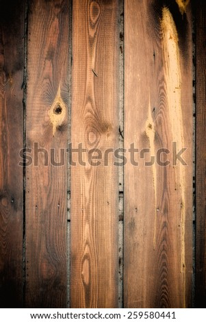 wooden background, vertically positioned boards - stock photo