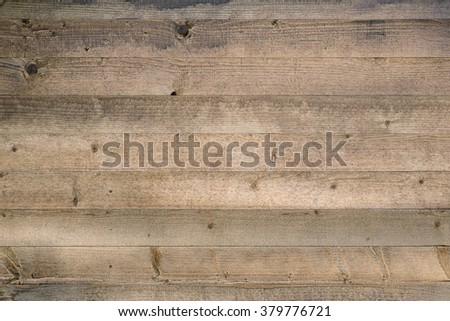 Wooden background with horizontal boards - stock photo