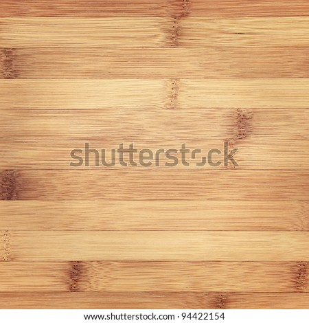 Wooden bamboo background, square - stock photo