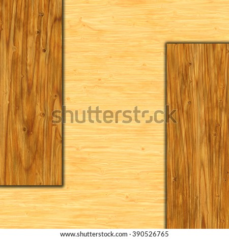 wooden banner - stock photo