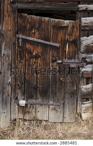 Wooden bard door