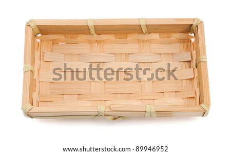 Wooden basket for food - stock photo