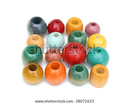 Wooden beads - stock photo