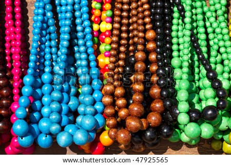 Wooden beads necklaces