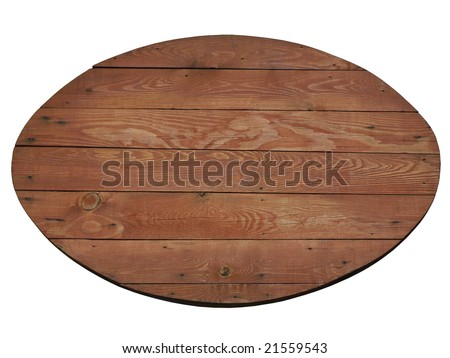 wooden billboard ...from ethnic restaurant, isolated and blank. - stock photo