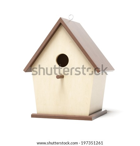 Wooden bird box  - stock photo