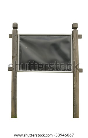 Wooden Blank Outdoor Billboard. Just add your text.