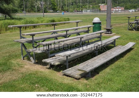 Wooden bleachers - stock photo