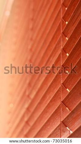 Wooden blinds. Swallow dof - stock photo