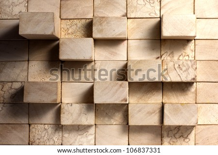 Wooden blocks abstract vintage background concept - stock photo