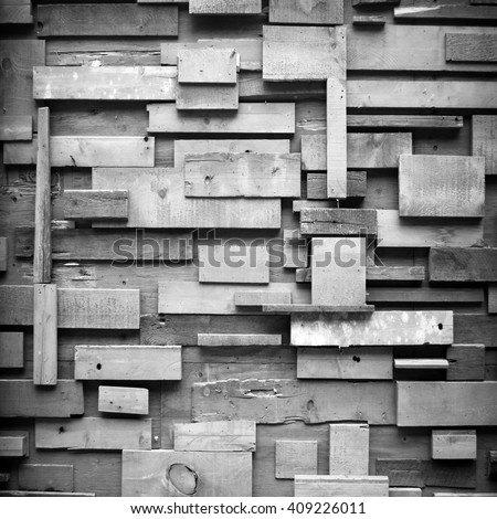 wooden blocks building structure - stock photo