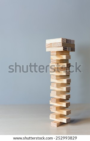 wooden blocks game at copy space background