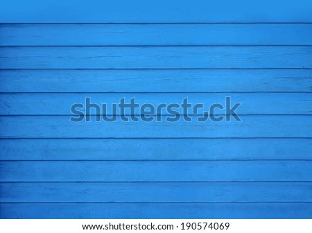 Wooden blue table, top view - stock photo