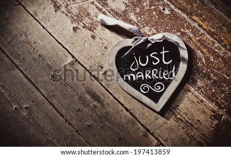 Wooden board in the form of heart - stock photo
