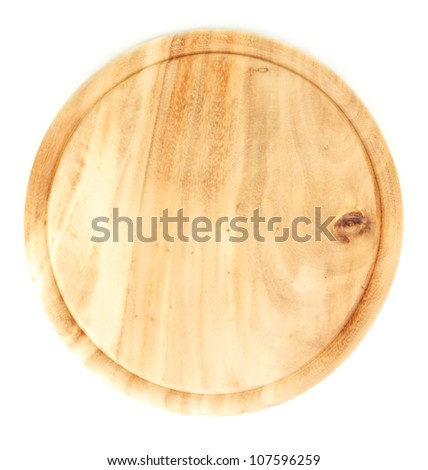 Wooden board isolated on white