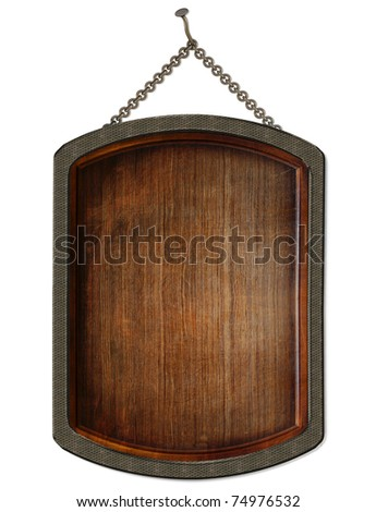 wooden board. isolated on white. - stock photo