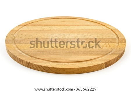 Wooden board isolated on white background. New - stock photo