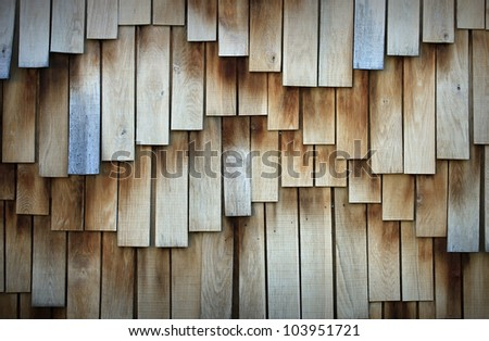 Wooden board surface in wave form - stock photo