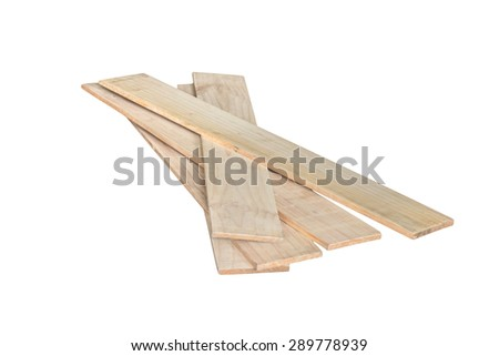 wooden boards isolated on white background - stock photo