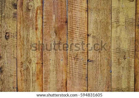 Wooden boards, nailed down