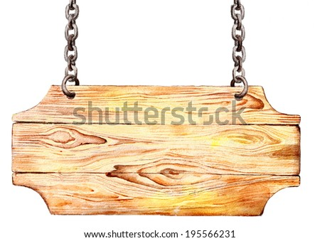 wooden boards on a white background - stock photo