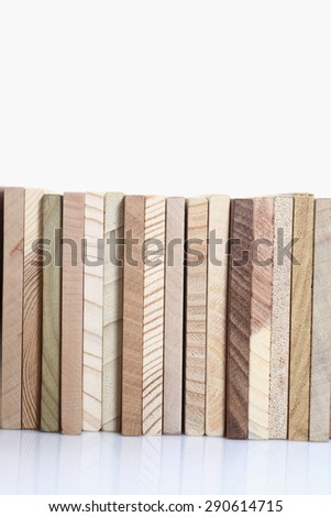 wooden boards on an isolated background - stock photo