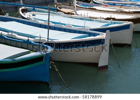 Wooden boats in the harbour