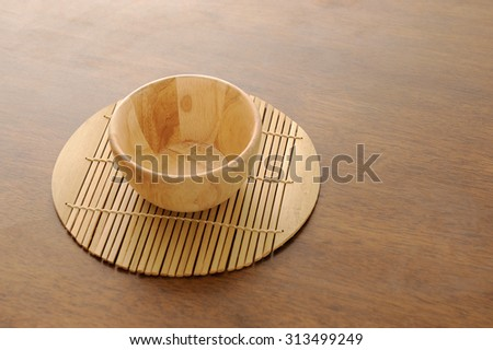 Wooden bowl - stock photo