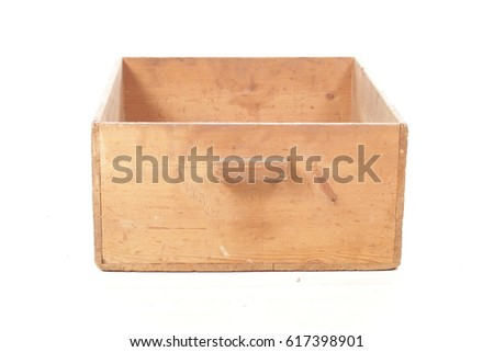 wooden box case isolated