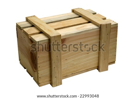 wooden box for packing of different things