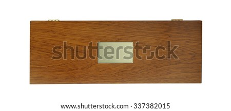 Wooden box isolated on white