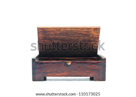 wooden box souvenir - stock photo