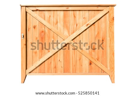 wooden box with clipping path isolated on white background