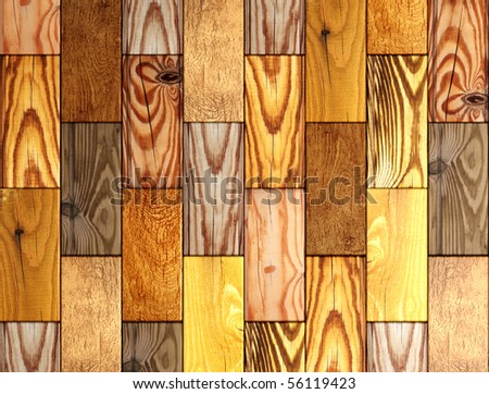 Wooden boxes - stock photo