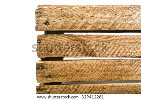 Wooden boxes on a white background - stock photo